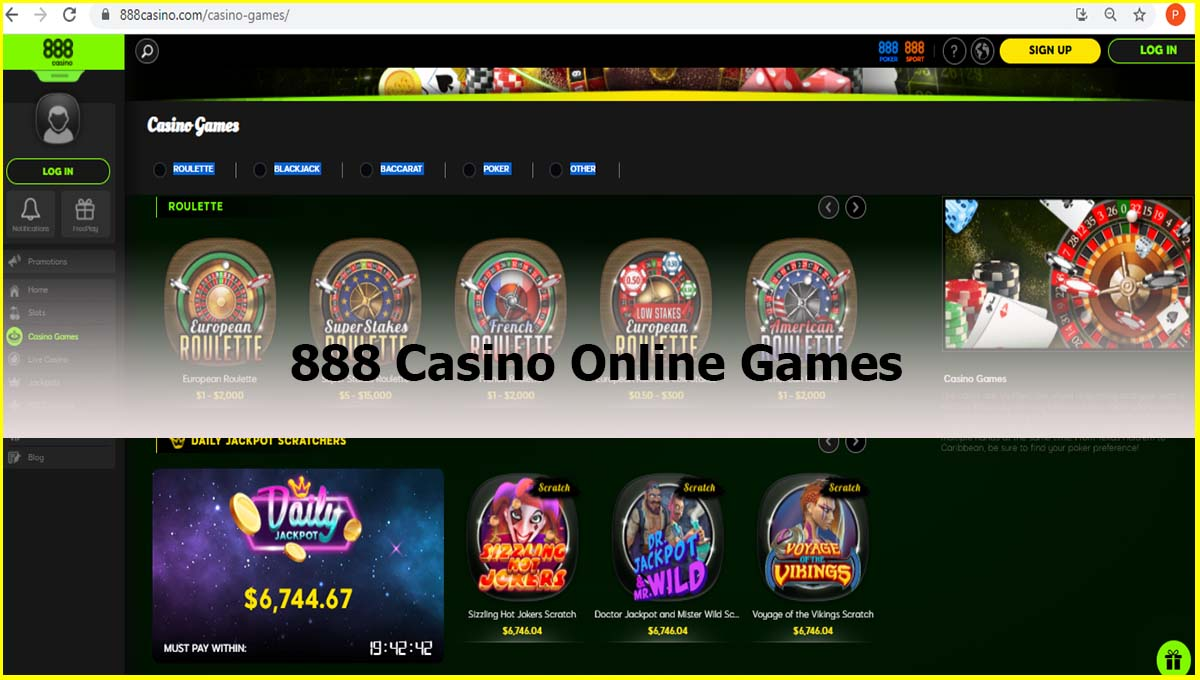888 casino online games review